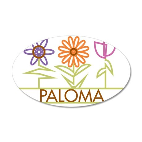PALOMA-cute-flowers 35x21 Oval Wall Decal