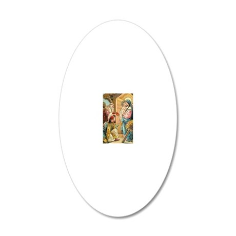 Epiphany - Three Kings 20x12 Oval Wall Decal