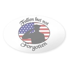 Fallen Officer Oval Decal