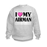 I Heart ( Love ) My Airman Sweatshirt