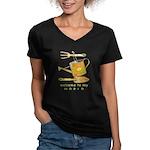 Garden Tools Women's V-Neck Dark T-Shirt