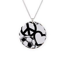 P,L,Soccer, black Necklace