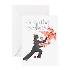 Yang-GraspTheBirdsTail-WM-DK Greeting Card