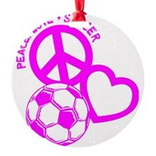 P,L,Soccer, hot pink Ornament