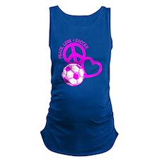 P,L,Soccer, hot pink Maternity Tank Top