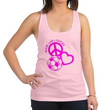 P,L,Soccer, hot pink Racerback Tank Top