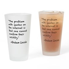 Quotes black Drinking Glass
