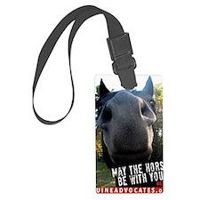 MaytheHorseCafe1-card Luggage Tag