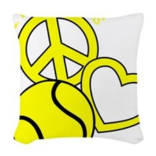 P,L,Tennis, yellow Woven Throw Pillow