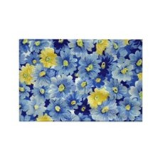 1.04_BLUE-DAISIES Rectangle Magnet