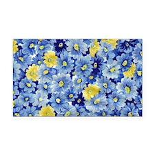1.04_BLUE-DAISIES Rectangle Car Magnet