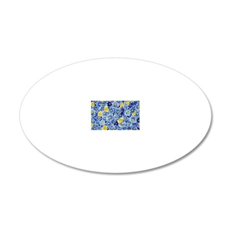 1.04_BLUE-DAISIES 20x12 Oval Wall Decal