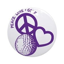 P,L,Golf, violet Round Ornament