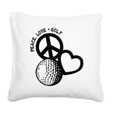 P,L,Golf, black Square Canvas Pillow