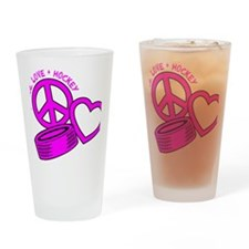 P,L,Hockey, hot pink2 Drinking Glass