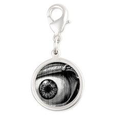 lil demon Silver Round Charm