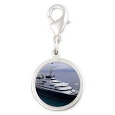 boat cover Silver Round Charm