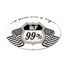 99-hwy-flag-LTT 35x21 Oval Wall Decal