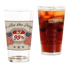 99-hwy-flag2-col-LG Drinking Glass