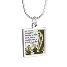 sherlockquote_truthwhite Silver Square Necklace