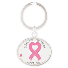 - Support my Sister Breast Cancer Oval Keychain