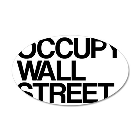 occupy2 35x21 Oval Wall Decal