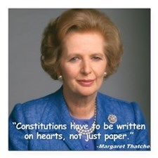 "Thatcher Hearts Quote Co Square Car Magnet 3"" x 3"""