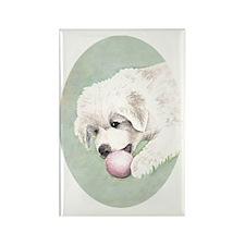 puppy_aquarell3 Rectangle Magnet