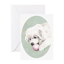 puppy_aquarell3 Greeting Card