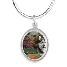 godmadedogs(button) Silver Oval Necklace
