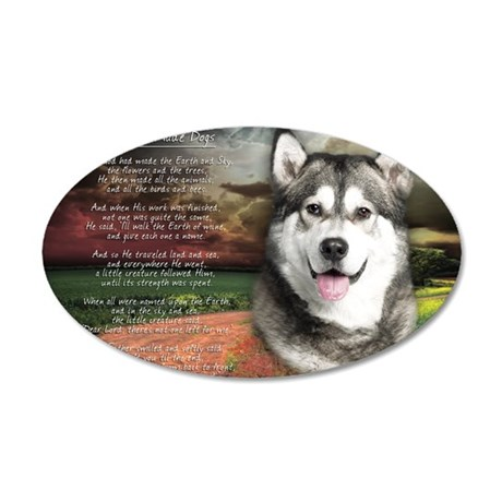 godmadedogs(laptop) 35x21 Oval Wall Decal