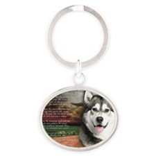 godmadedogs(laptop) Oval Keychain