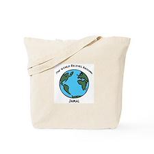 Revolves around Jamal Tote Bag