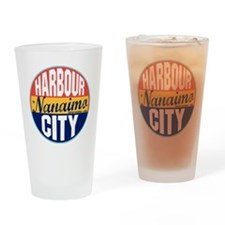 Nanaimo Vintage Label W Drinking Glass