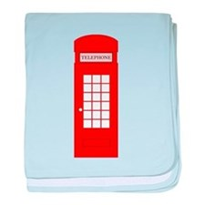British Red Telephone Box baby blanket