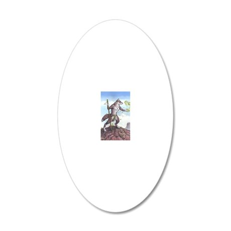 Earth Wolf CARD 20x12 Oval Wall Decal