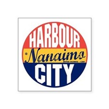 "Nanaimo Vintage Label B Square Sticker 3"" x 3"""