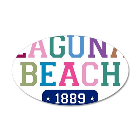 Laguna Beach 1889 W 35x21 Oval Wall Decal