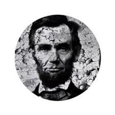 "distressed abe MP 3.5"" Button"