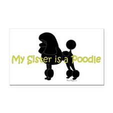 PoodleSilhouetteSister Rectangle Car Magnet
