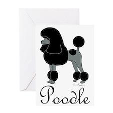 PoodleBlackWord Greeting Card