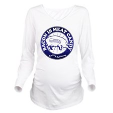 Meat Candy On White  Long Sleeve Maternity T-Shirt