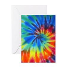 Blue Spiral iPad Greeting Card