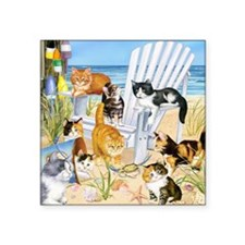 Cats on the Beach Sticker