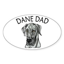 Black UC Dane Dad Oval Decal