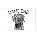 Black UC Dane Dad Postcards (Package of 8)