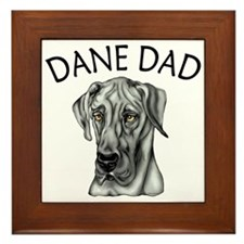 Black UC Dane Dad Framed Tile