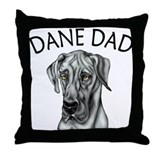 Black UC Dane Dad Throw Pillow