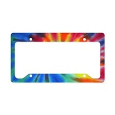 Blue Spiral Laptop License Plate Holder