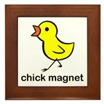 Chick Magnet Framed Tile